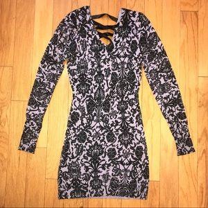 Lace Up Back Mini Sweater Dress / Long Sweater